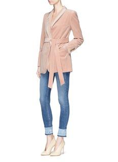 Blazé Milano 'Jealousy' velvet belted blazer robe