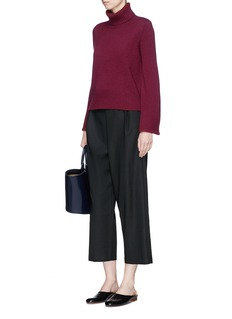 Co Flared sleeve wool-cashmere turtleneck sweater