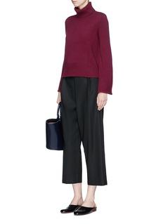 CoFlared sleeve wool-cashmere turtleneck sweater