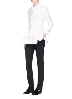 Co Obi belt cotton poplin shirt