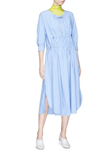 Cédric Charlier Drawstring ruched ripstop dress