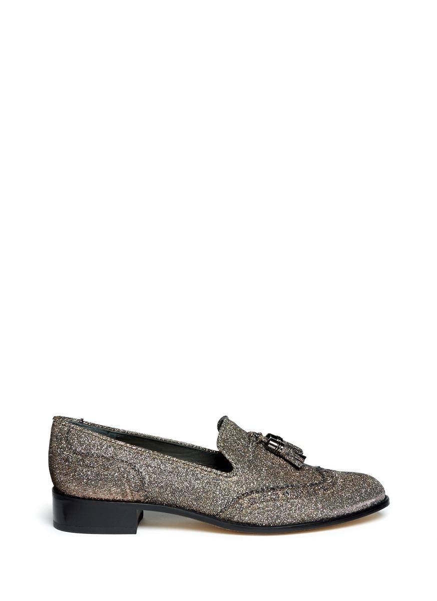 Guything metallic thread tassel loafers