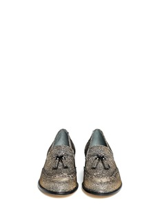 STUART WEITZMAN'Guything' metallic thread tassel loafers