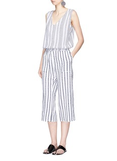 Lemlem 'Yeshi' stripe cotton V-neck jumpsuit
