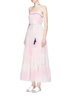 Lemlem 'Berhan Sun' tassel belted ombré cotton dress