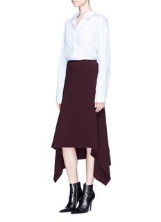 Dion Lee'Balance' bonded crepe poncho skirt