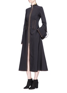 Ellery 'Miz Mazzy' zip front long dress