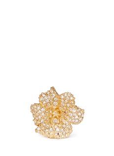 ALEXANDER MCQUEENSwarovski crystal flower ring