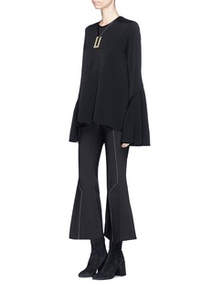 Ellery 'Backlash' detachable necklace flared sleeve top