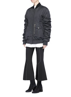 Ellery 'Cars and Races' gathered sleeve bomber jacket