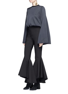 Ellery 'Sinuous' cropped full flare suiting pants