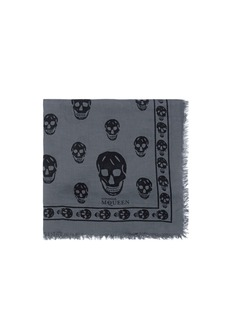 ALEXANDER MCQUEENSkull print scarf