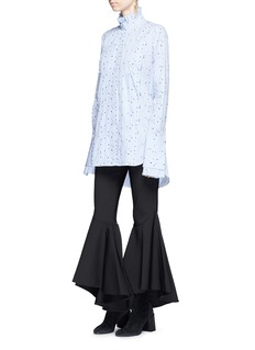 Ellery 'Angelus' dot fil coupé pleated stripe shirt