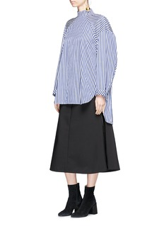 Ellery 'Treble' cocoon sleeve stripe cotton poplin shirt