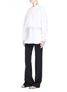 Ellery 'Clef' balloon sleeve pleated waist poplin shirt