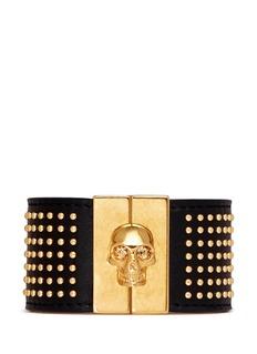 ALEXANDER MCQUEENStud skull leather bracelet