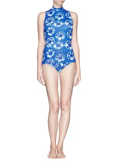 J. CREW Tie-dye sleeveless rash guard