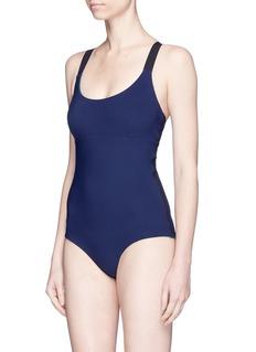 WARD WHILLAS'Teddy' reversible crisscross back one-piece swimsuit