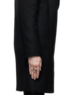 ALEXANDER MCQUEENDouble spike skull ring