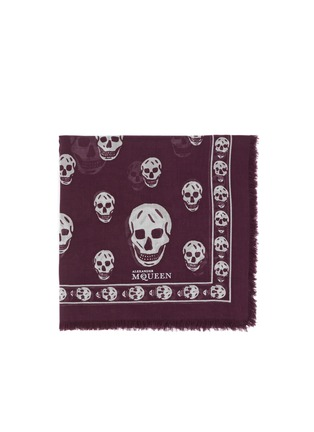 Main View - Click To Enlarge - Alexander McQueen - Classic skull modal-silk scarf