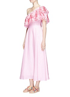 Gül Hürgelx The Webster 'Belle' embroidered ruffle one-shoulder dress
