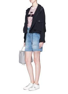 Etre Cecile  Flamingo print Breton stripe T-shirt