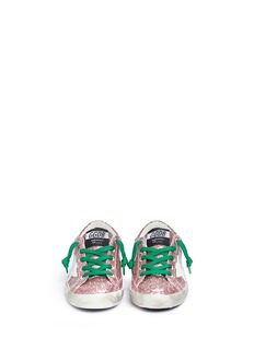 Golden Goose 'Superstar' glitter coated calfskin leather kids sneakers