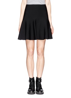 WHISTLES Rib knit flare skirt