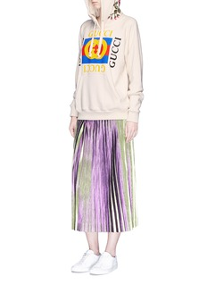 Gucci Floral embroidered logo print oversized hoodie