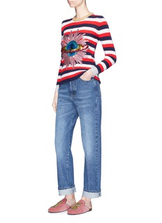 GucciSpace embellished stripe sweater