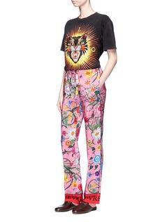 Gucci'Floral Snake' print silk pyjama pants