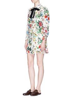 Gucci Flora snake print shirt dress