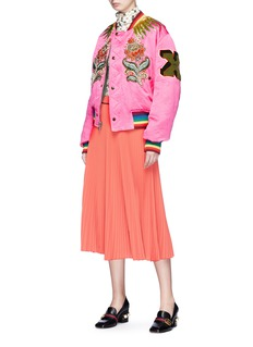 Gucci Tiger floral appliqué reversible padded bomber jacket