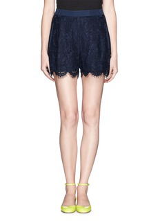 WHISTLES'Holly' floral lace shorts