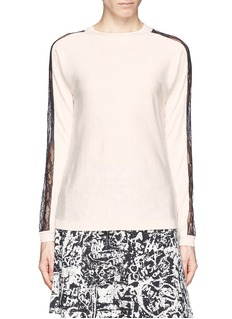 WHISTLES 'Penelope' lace insert sweater
