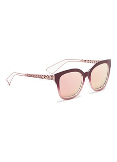 Dior 'Diorama 1' degradé openwork temple mirror sunglasses