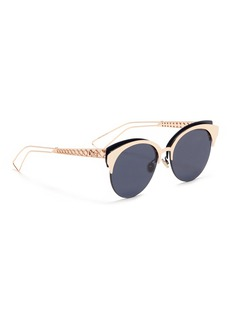 Dior 'Diorama Club' metal openwork temple browline sunglasses