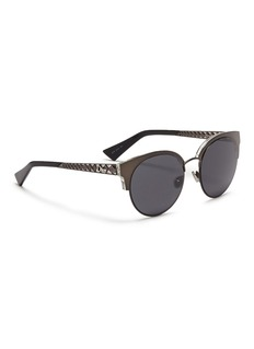 Dior 'Diorama Mini' metal openwork temple browline sunglasses