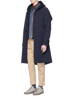 kolorAsymmetric zip hoodie