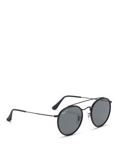 Ray-Ban Metal round polarised sunglasses