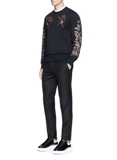Alexander McQueen Bullion floral embroidered sweatshirt