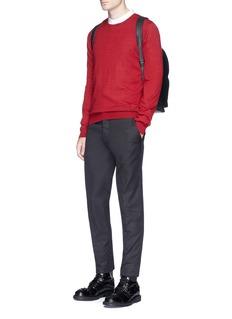 Alexander McQueen Skull intarsia stripe cashmere sweater