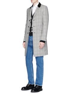 Alexander McQueen Glen plaid virgin wool coat