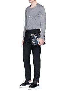 Alexander McQueenDistressed wool-silk cardigan