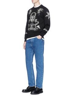 Alexander McQueen Heraldic skull embroidered sweatshirt