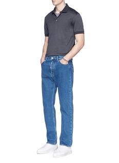 Alexander McQueenSkull shoulder panel polo shirt
