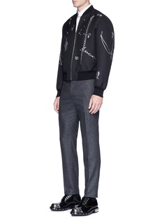 Alexander McQueen Chain safety pin fil coupé bomber jacket