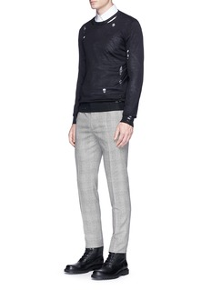 Alexander McQueenSkull distressed wool-silk sweater