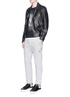 Alexander McQueen Side zip organic cotton sweatpants