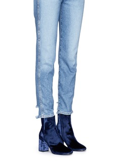 Balenciaga'Ville' velour boots